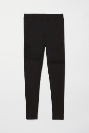 Leggings da biker in jersey