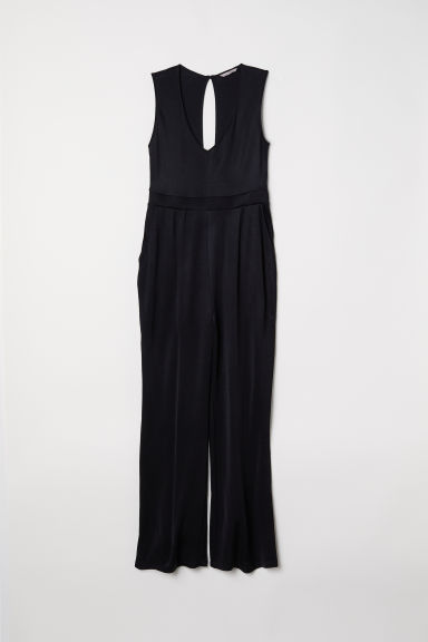 H&M+ V-neck jumpsuit - Black -  | H&M CN