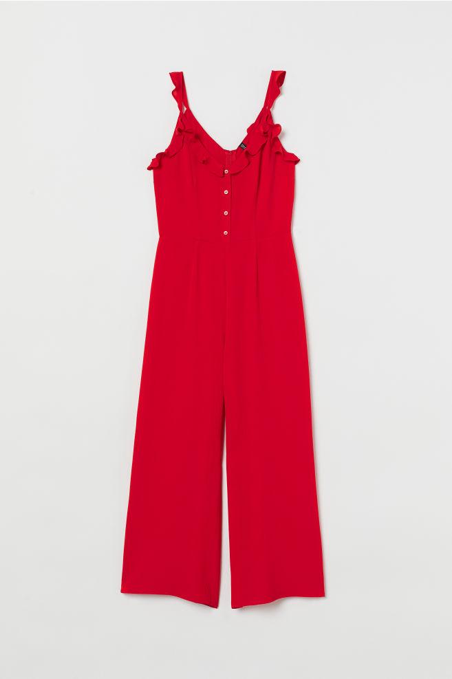 3bdfa76807c ... Ankle-length Jumpsuit - Red - Ladies