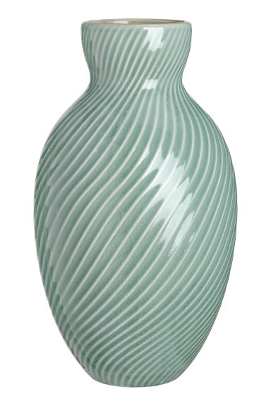 Large ceramic vase - Dusky green -  | H&M CN