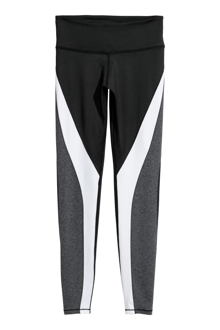 Sports tights - Black/White - Ladies | H&M