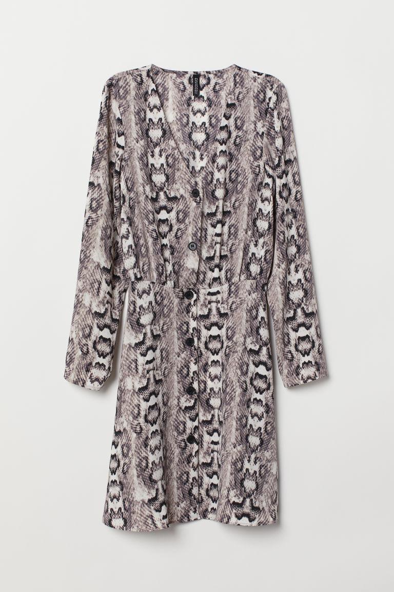 klassische Passform innovatives Design 60% günstig Kleid aus Crêpe-Chiffon