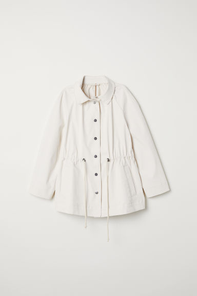 Coated cotton jacket - Cream - Ladies | H&M CN