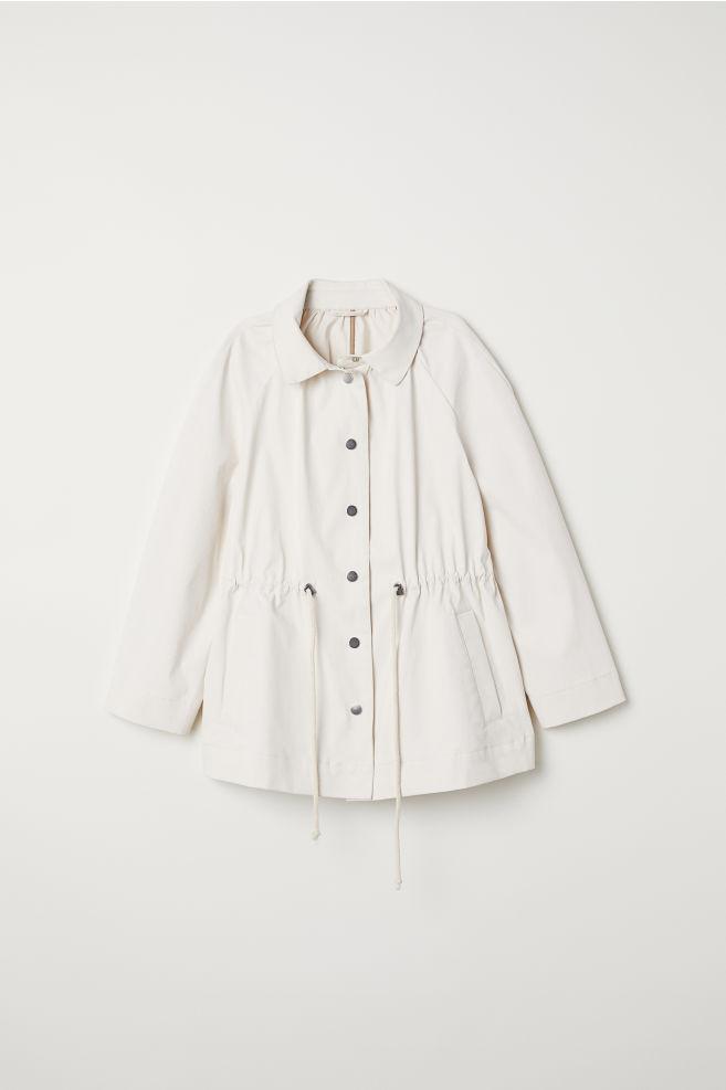 9ee3dd4a6eeef Coated Cotton Jacket - Cream - Ladies