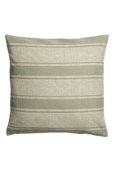 Patterned cushion cover - Dusky green/White patterned -  | H&M CN