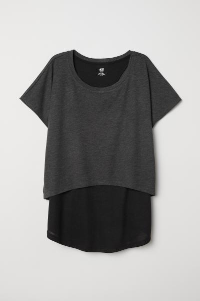 H&M - Doppellagiges Sportshirt - 5