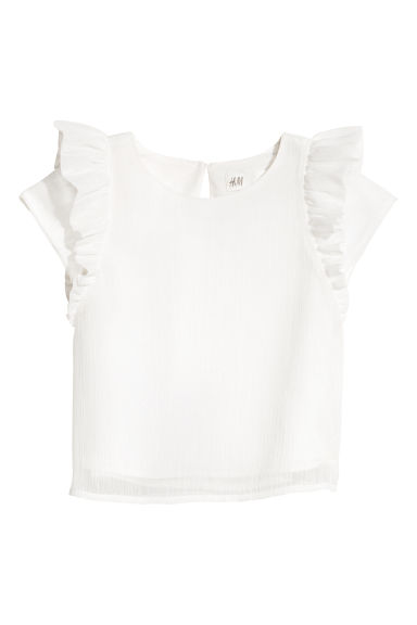 Glittery blouse - White - Kids | H&M