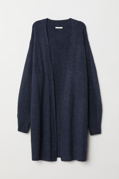 Long cardigan - Dark blue marl -  | H&M