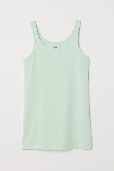 Canotta in jersey - Verde menta -  | H&M IT