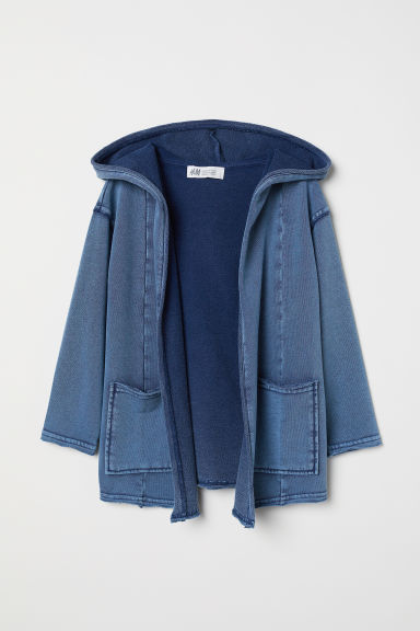 Hooded sweatshirt cardigan - Denim blue - Kids | H&M