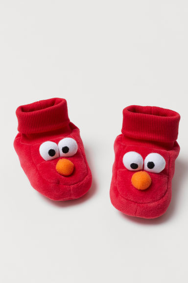 Bootees with appliqués - Red/Sesame Street - Kids | H&M CN