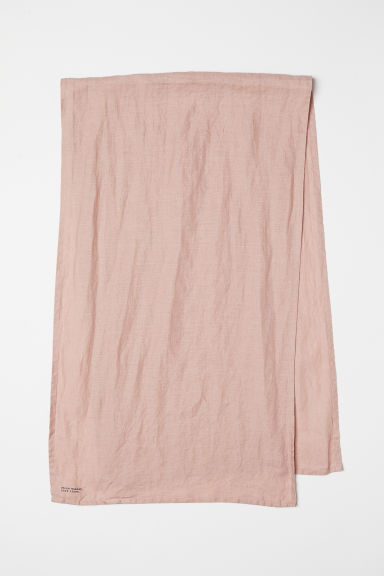 Washed linen table runner - Old rose - Home All | H&M CN
