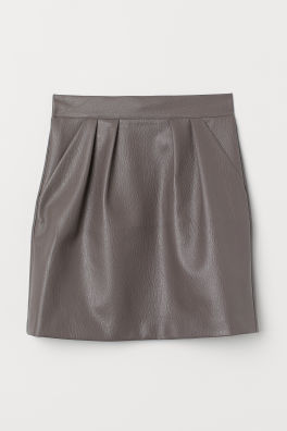 870c386ef663 Faux Leather Skirt