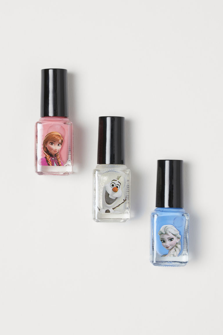 3-pack peel-off nail polish - Pink/Frozen - Kids | H&M GB