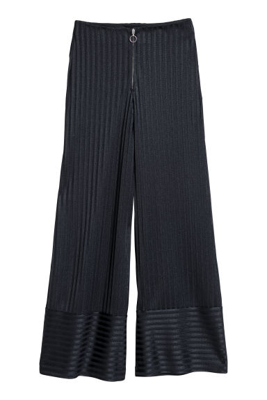 Wide trousers - Dark blue - Ladies | H&M GB
