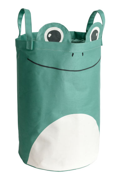 Printed storage basket - Green/Frog -  | H&M IE