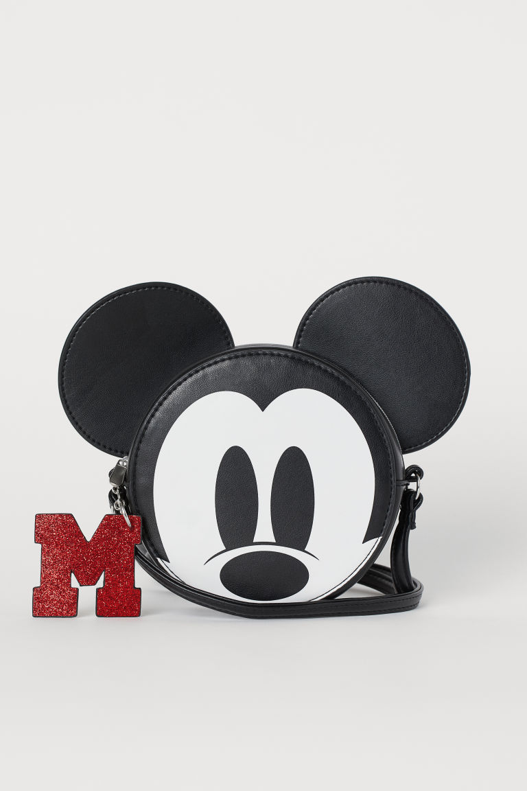 Round Shoulder Bag - Black/Mickey Mouse - Kids | H&M US