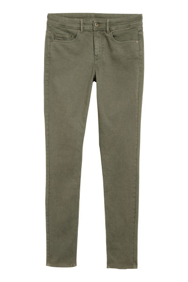 Super Skinny Regular Jeans - Khaki green -  | H&M IE