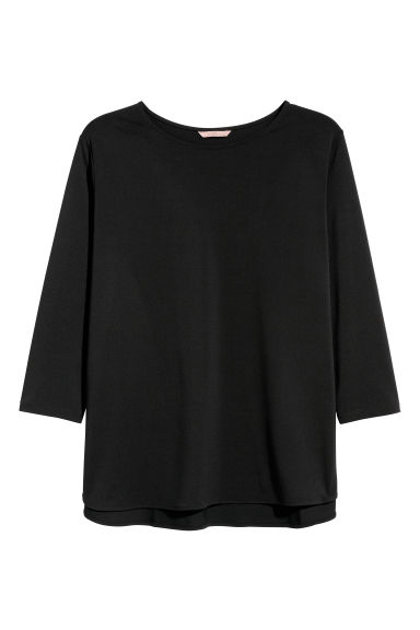 H&M+ Jersey top - Black - Ladies | H&M