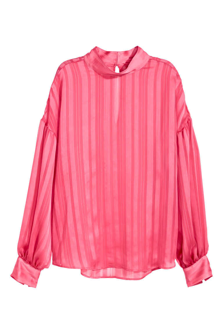 Balloon-sleeved blouse - Pink - Ladies | H&M CN