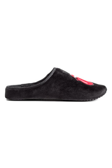 Soft slippers - Black/Rolling Stones -  | H&M