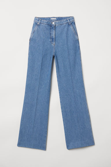 Wide jeans - Denim blue - Ladies | H&M