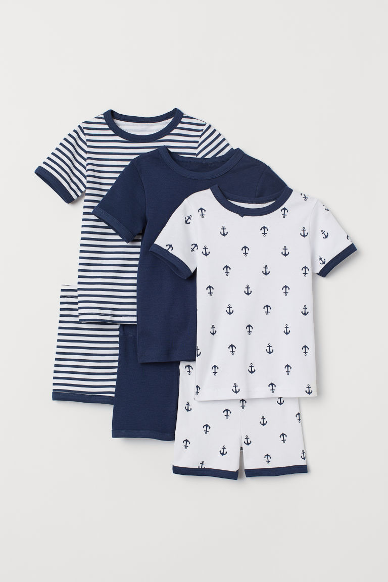 3-pack pyjamas - White/Anchors - Kids | H&M CN