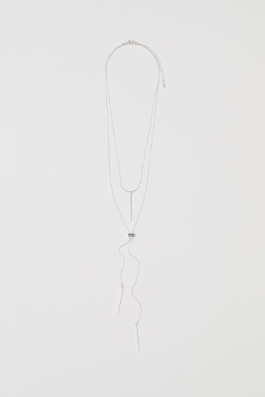 2-pack necklaces - Silver-coloured -  | H&M