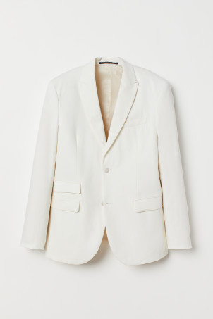 Slim Fit Linen Blend JacketModel