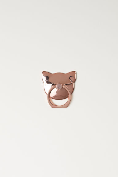Smartphone ring - Rose gold-coloured/Cat -  | H&M IE