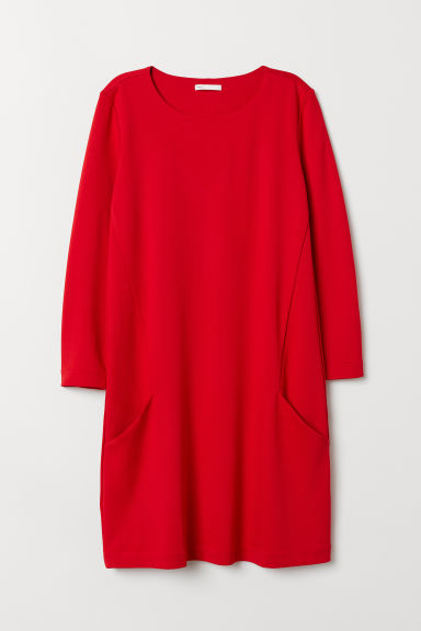 Jersey dress - Red - Ladies | H&M CN