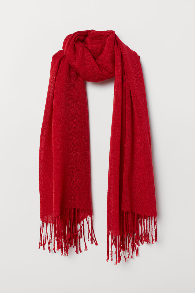 Woven Scarf - Red - Ladies | H&M US