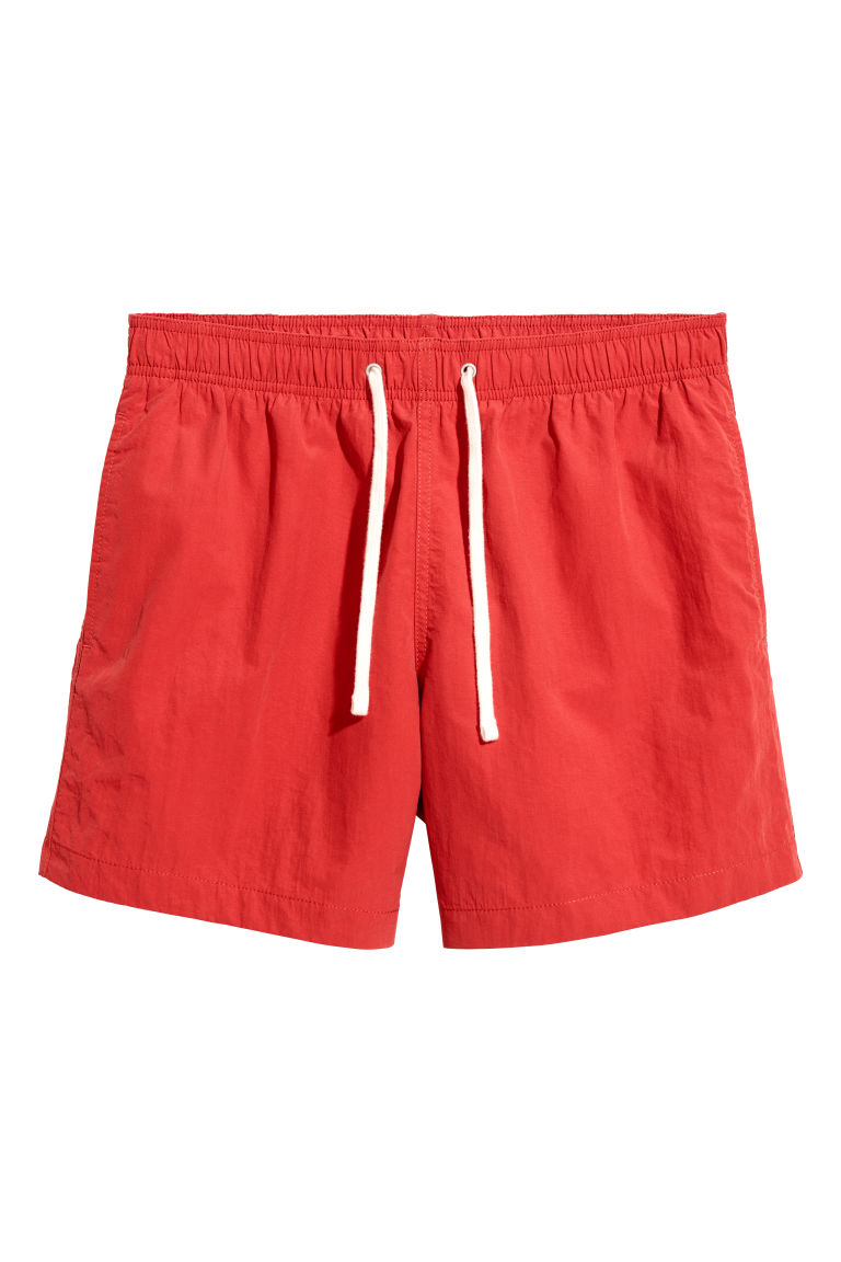 Swim shorts - Bright red - Men | H&M