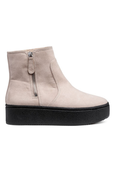 Bottines à plateau - Taupe -  | H&M BE