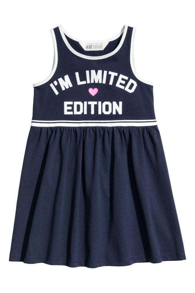 c084910ca06342 Sleeveless jersey dress - Dark blue - Kids