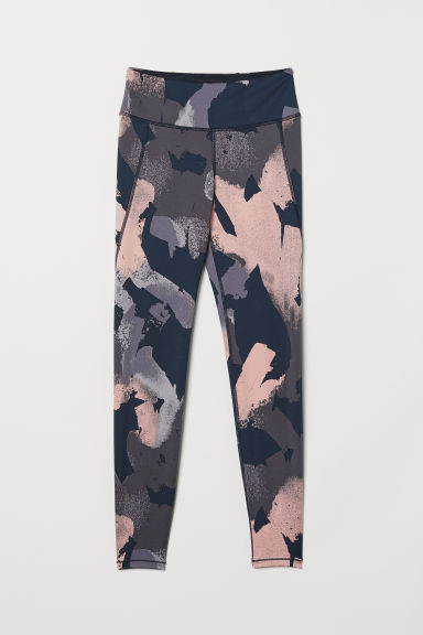 Sportlegging - Donkerblauw/roze dessin - DAMES | H&M BE