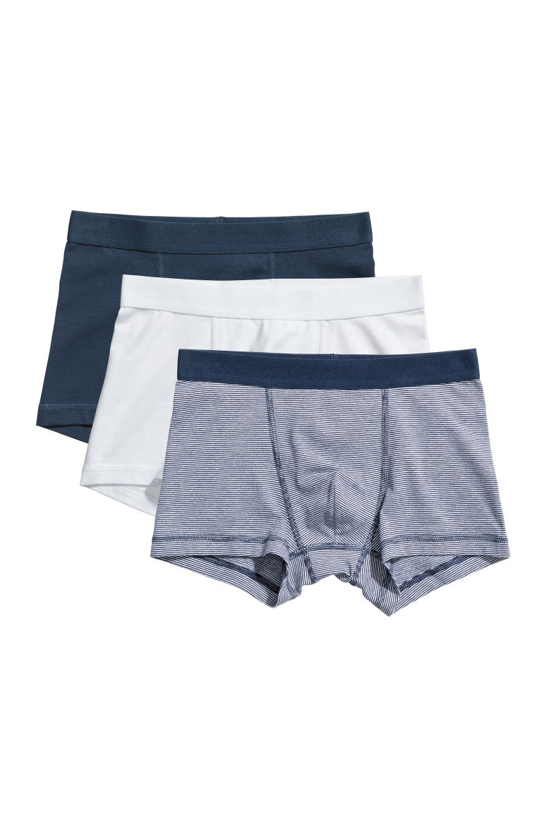 3-pack boxer shorts - Dark blue/Narrow striped - Kids | H&M