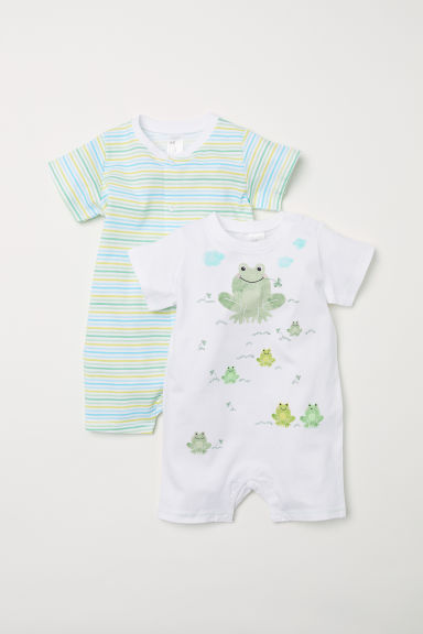 2-pack all-in-one pyjamas - Light green/Frogs - Kids | H&M CN