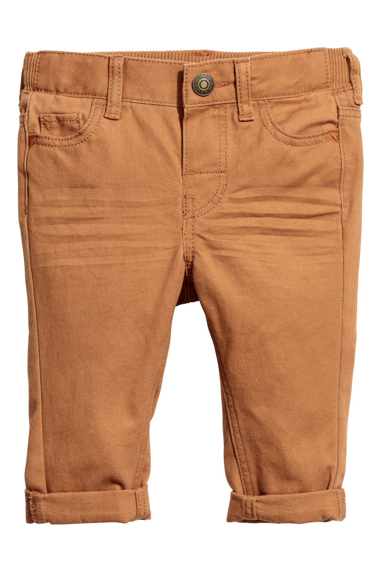Cotton twill trousers - Camel - Kids | H&M CN