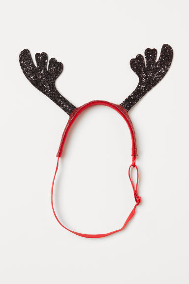 Dog headwear - Red/Antlers -  | H&M