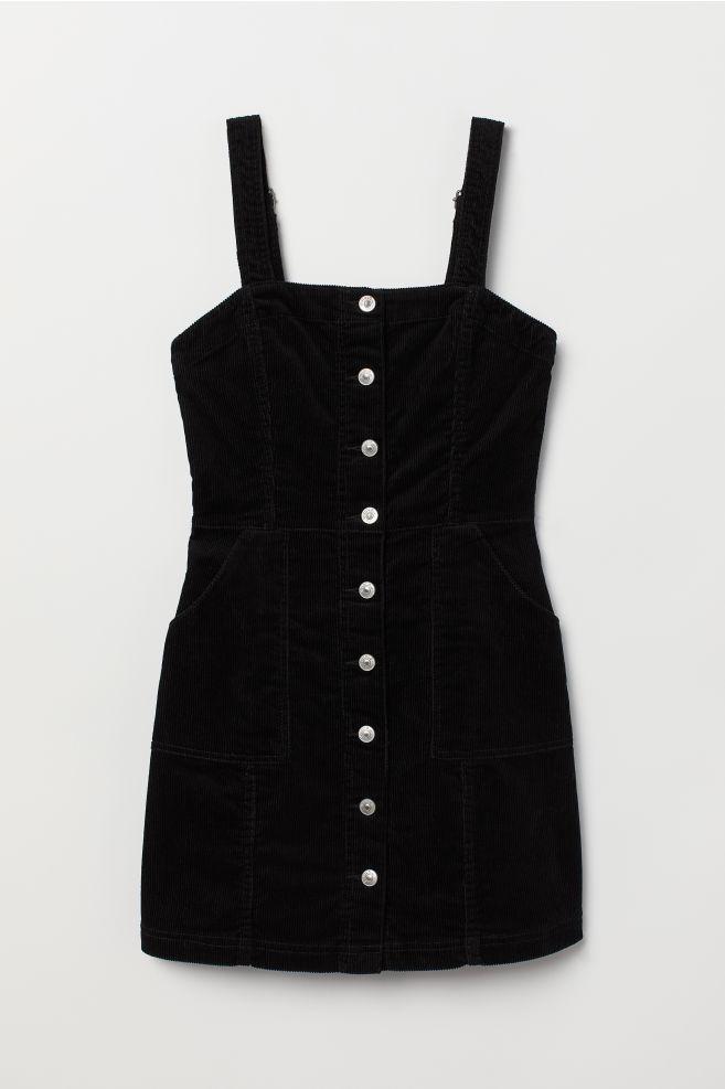 264c2dc8b Bib Overall Dress - Black/corduroy - | H&M ...
