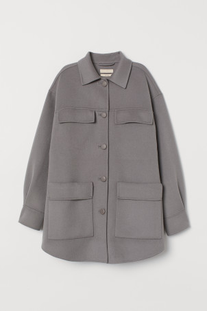 Wool-blend Shirt Jacket