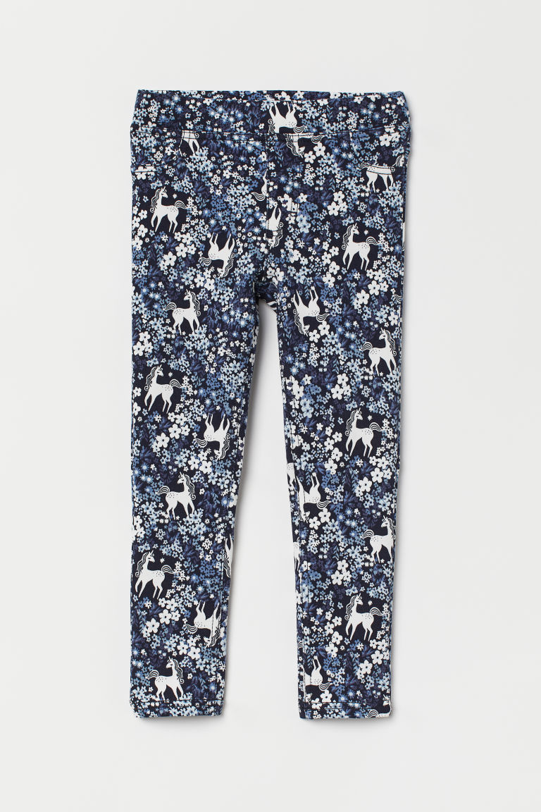 Treggings - Blu scuro/unicorni -  | H&M IT