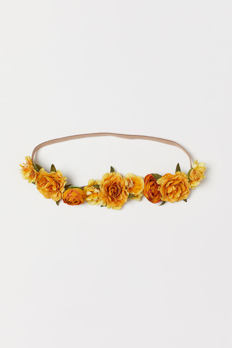 Hairband with Flowers - Yellow - Ladies | H&M CA
