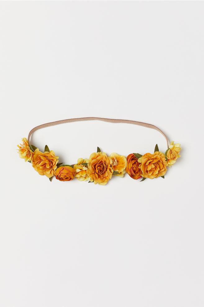 989106e8 Hårbånd med blomster - Gul - DAME | H&M ...