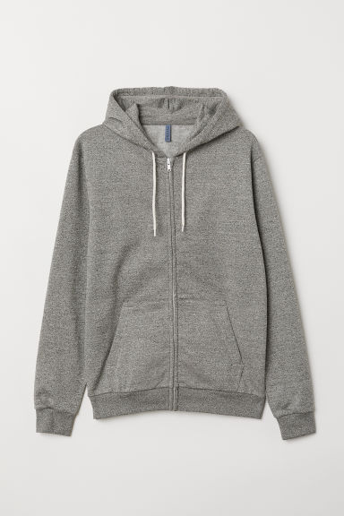 Hooded jacket - Dark grey marl - Men | H&M GB