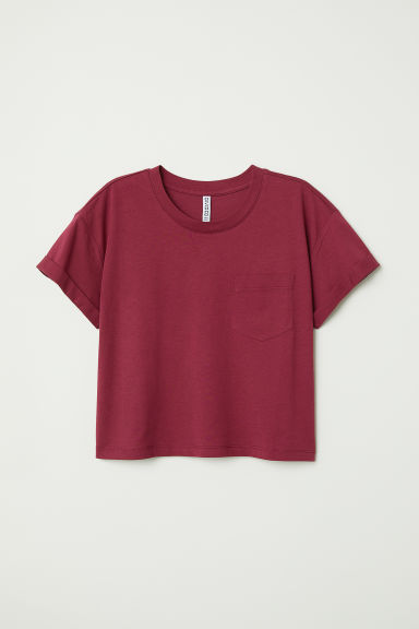 T-shirt corta - Bordeaux - DONNA | H&M IT