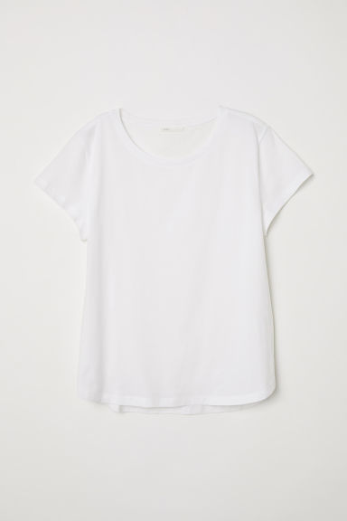Cotton T-shirt - White - Ladies | H&M