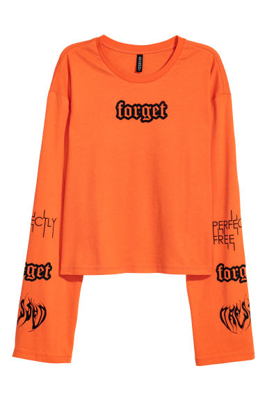 Jersey top - Orange/Forget -  | H&M CN
