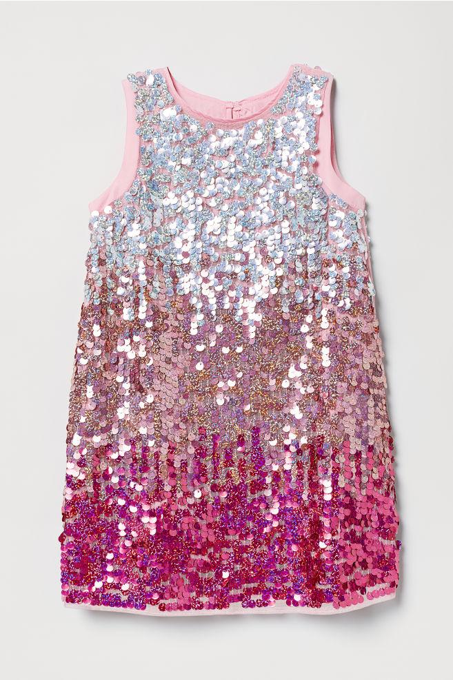 ba9c563853 Sequined Dress - Pink - Kids | H&M ...